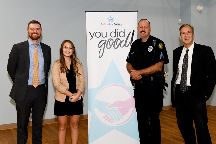 Ofc. Desiree Palmer of the Frederick City Police Department receives the 2019 Public Service Do-Gooder Award